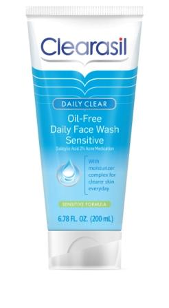 CLEARASIL® DAILY CLEAR® Oil Free Daily Face Wash - Sensitive (Salicylic Acid Formula) (Discontinued)