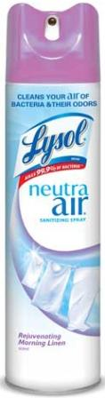LYSOL NEUTRA AIR Sanitizing Spray  Rejuvenating Morning Linen Photo