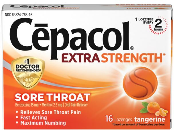 CEPACOL® Extra Strength Sore Throat Lozenges - Tangerine