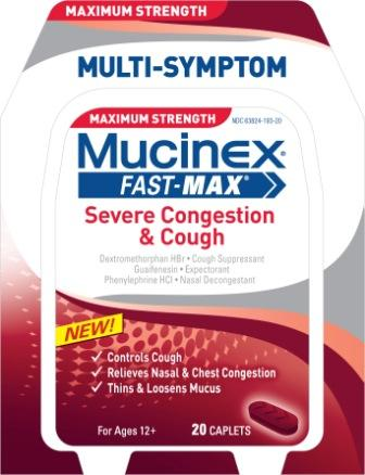 MUCINEX® FAST-MAX™ Severe Congestion & Cough Caplets
