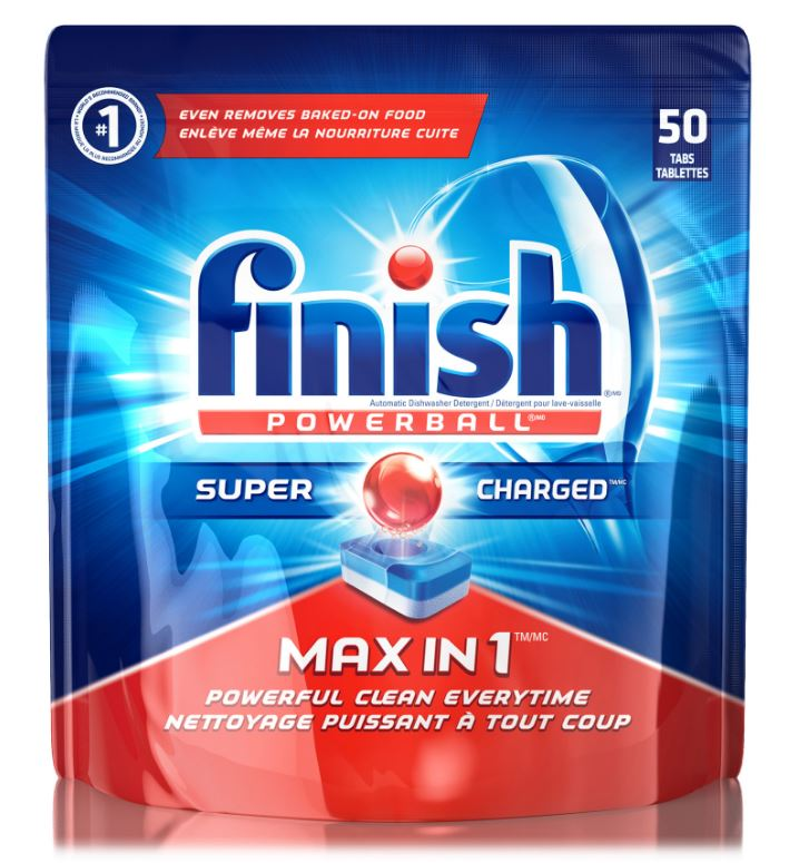 FINISH Powerball Max In 1 Fresh Scent Tablets Canada Photo