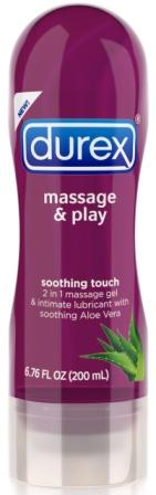 DUREX® Massage & Play Soothing Touch 2-In-1 Massage Gel - Aloe Vera