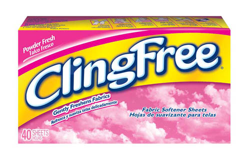 CLING FREE Sheets  Powder Fresh Photo
