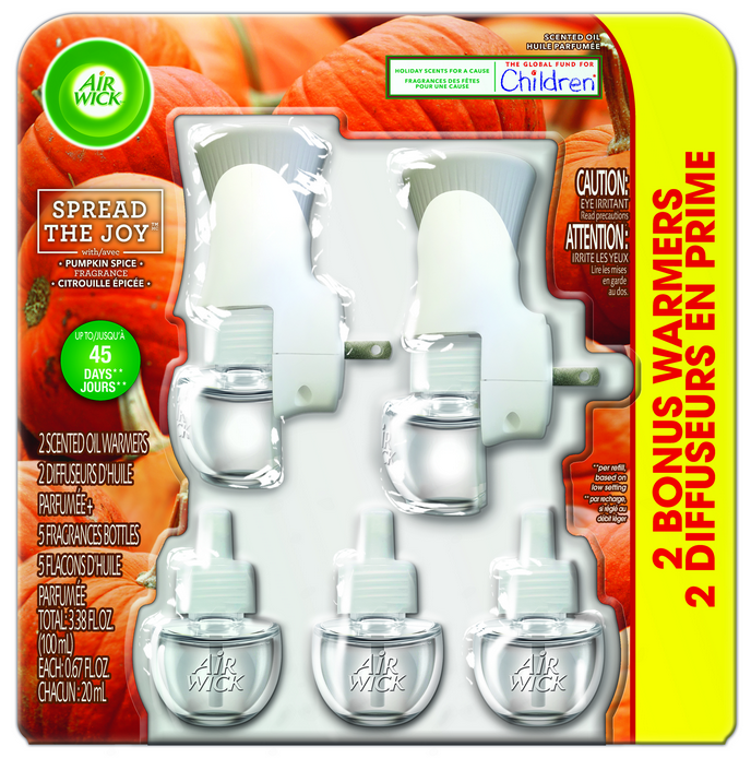 AIR WICK® Scented Oil Starter Kit - Pumpkin Spice (Spread The Joy™)