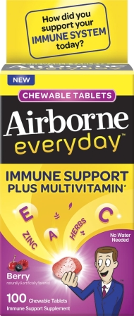 AIRBORNE® EVERYDAY™ Chewable Tablets - Berry