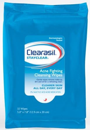 CLEARASIL® StayClear® Acne Fighting Cleansing Wipes (Discontinued)