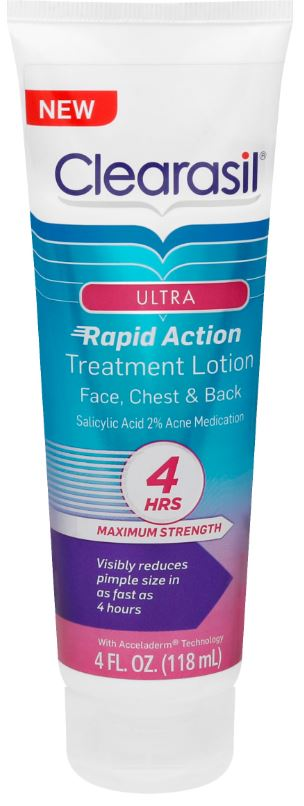 CLEARASIL® Ultra® Rapid Action Treatment Lotion - Face, Chest, & Back
