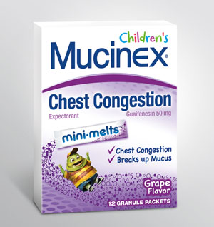 MUCINEX® CHILDREN'S MINI-MELTS™ - Grape (50 mg Guaifenesin) - Discontinued