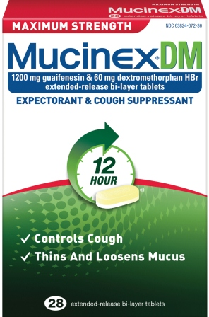 MUCINEX® DM MAX STRENGTH - (1200mg Guaifenesin, 60 mg Dextromethorphan HBr)