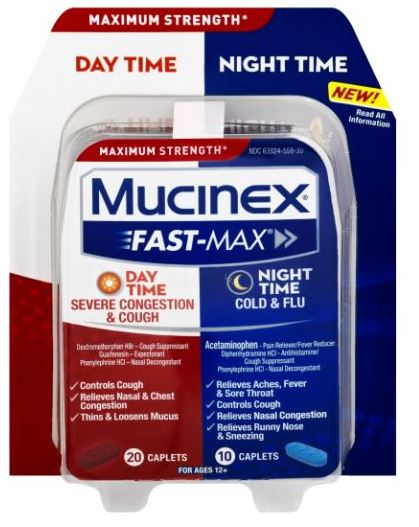 MUCINEX® FAST-MAX® Day Time Night Time - Severe Congestion & Cough Caplets (Day Time)