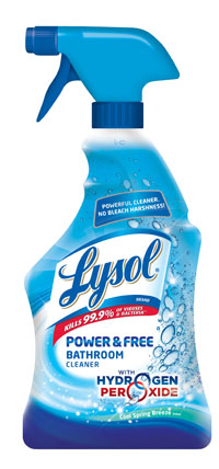 LYSOL POWER  FREE Bathroom Cleaner  Cool Spring Breeze Photo
