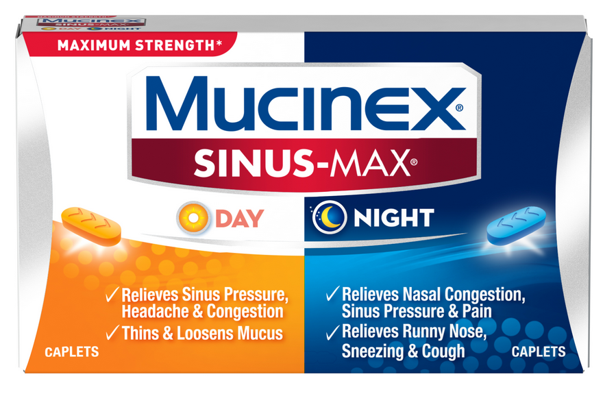 MUCINEX® SINUS-MAX® Day & Night Caplets (Day)