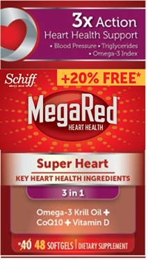 MegaRed® Super Heart - Krill Oil Softgels
