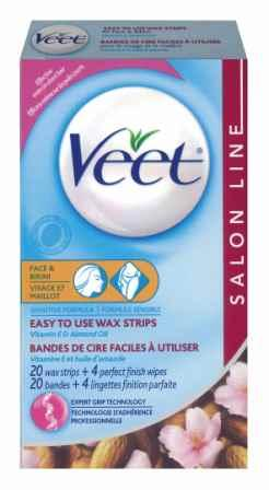 VEET® Easy To Use Wax Strips - Facial & Bikini - Sensitive Formula - Product A