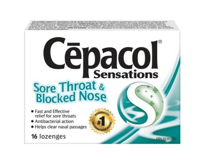 CEPACOL® Sensations Sore Throat & Blocked Nose Lozenges (Canada)