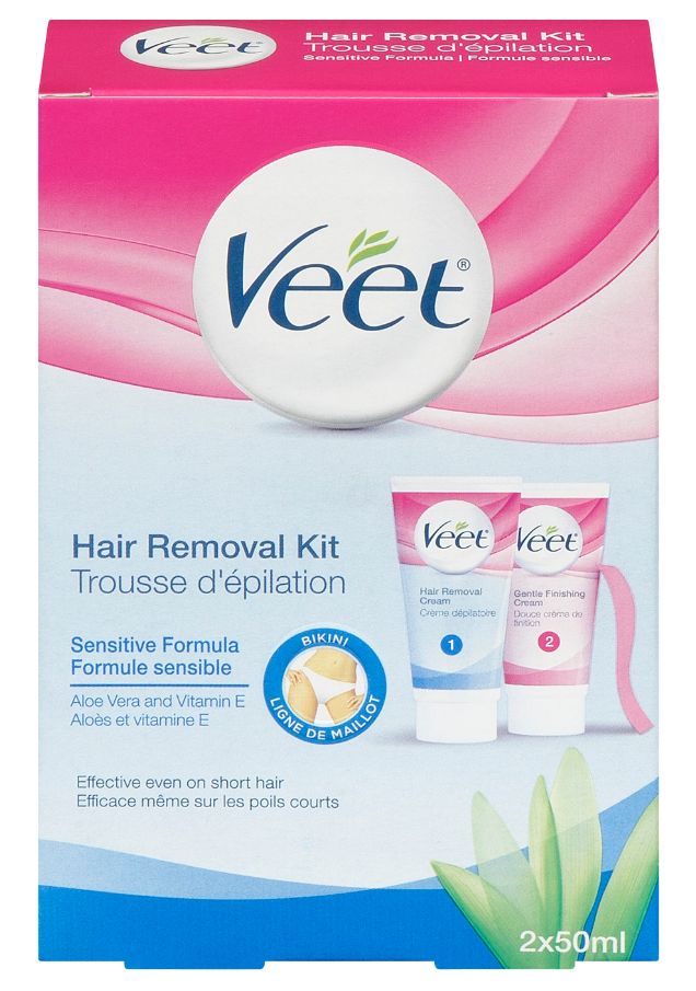 VEET Hair Removal Kit  Sensitive Skin  Bikini Finishing Cream Canada Photo