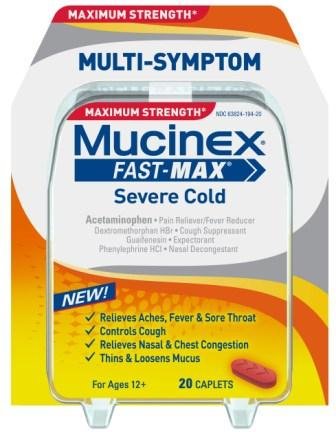 MUCINEX® FAST-MAX® Severe Cold Caplets