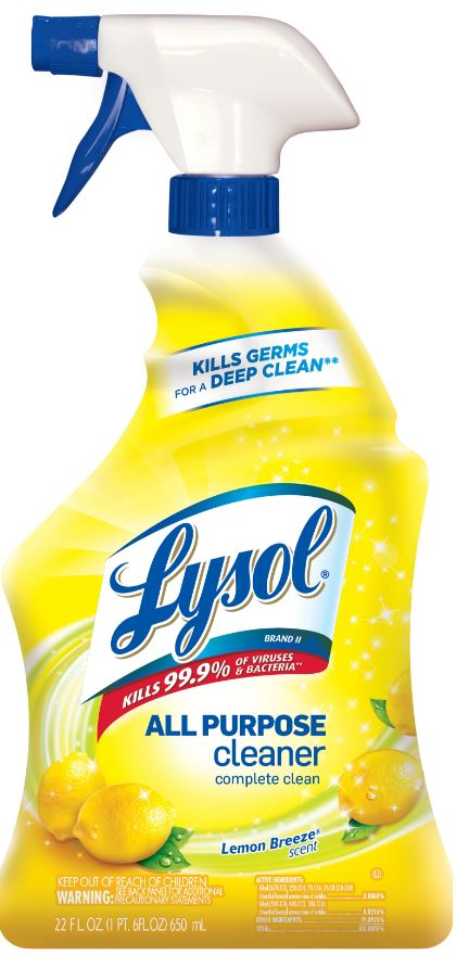 LYSOL® Brand II All Purpose Cleaner - Trigger - Lemon Breeze