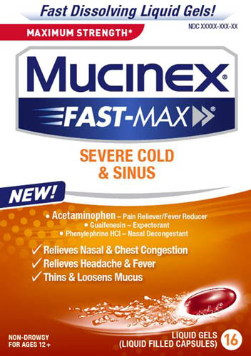 MUCINEX FASTMAX Severe Cold and Sinus Liquid Gels Photo