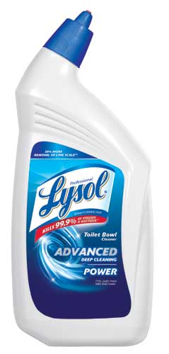 Professional LYSOL Brand II Disinfectant Toilet Bowl Cleaner Advanced Deep Cleanning Power Photo
