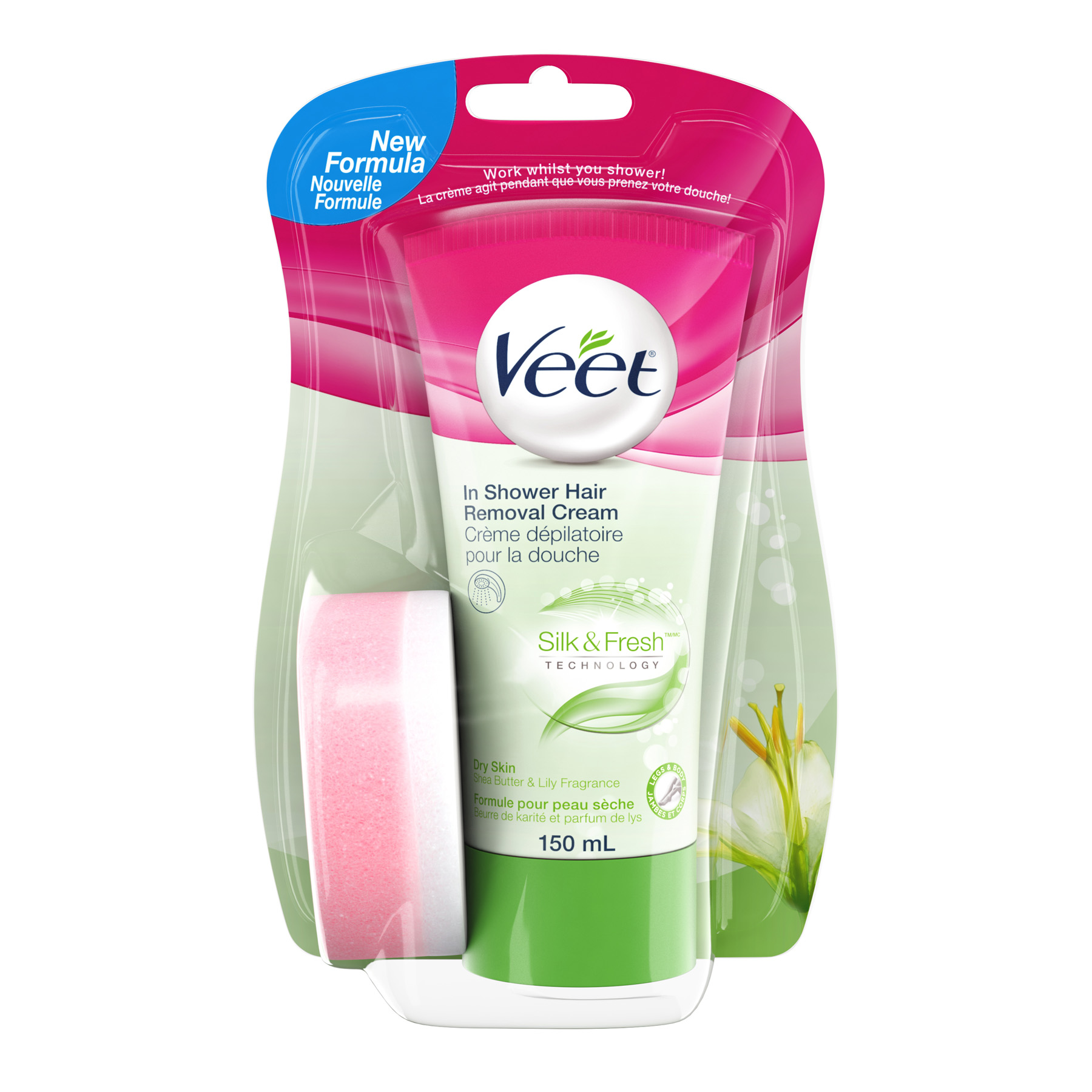 VEET® In-Shower Hair Removal for Dry Skin - Shea Butter & Lily