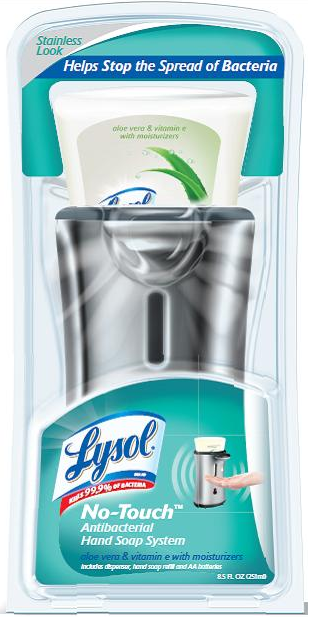 LYSOL NoTouch Hand Soap Starter Kit  Moisturizing Aloe  Vitamin E Photo