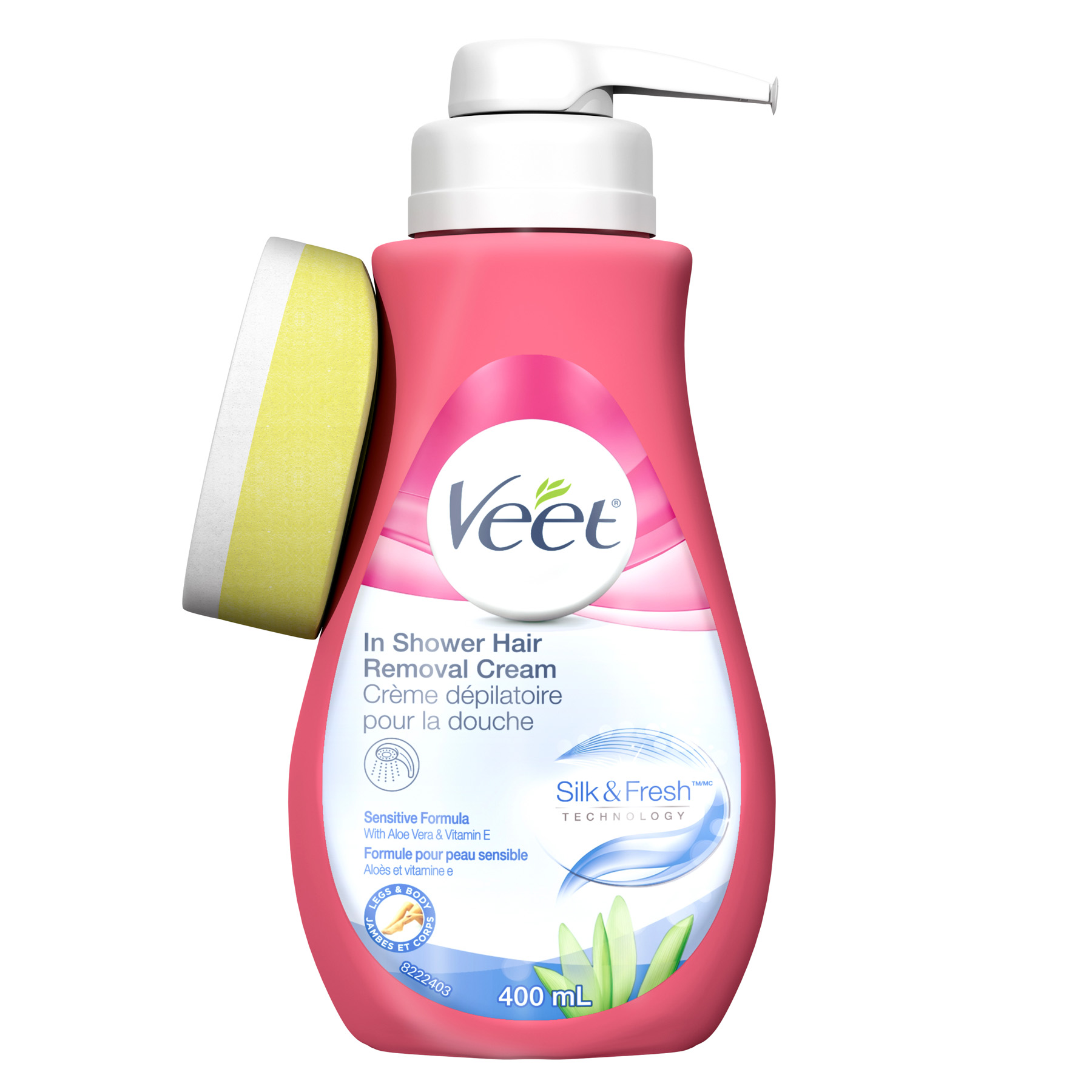 VEET® In Shower Hair Removal Cream Silk & Fresh™ - Sensitive Formula with Aloe Vera & Vitamin E