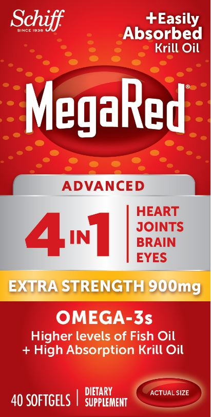 MegaRed® Advanced 4 In 1 Extra Strength Omega-3s - 900 mg Softgels