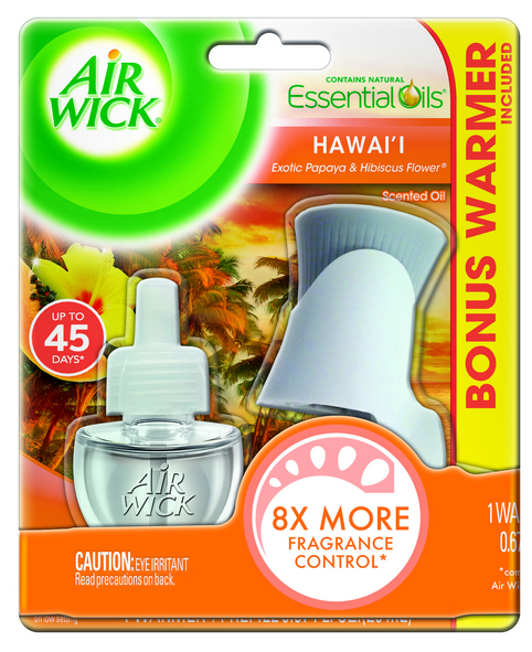 AIR WICK Scented Oil Starter Kit  Hawaii Exotic Papaya  Hibiscus Flower Photo