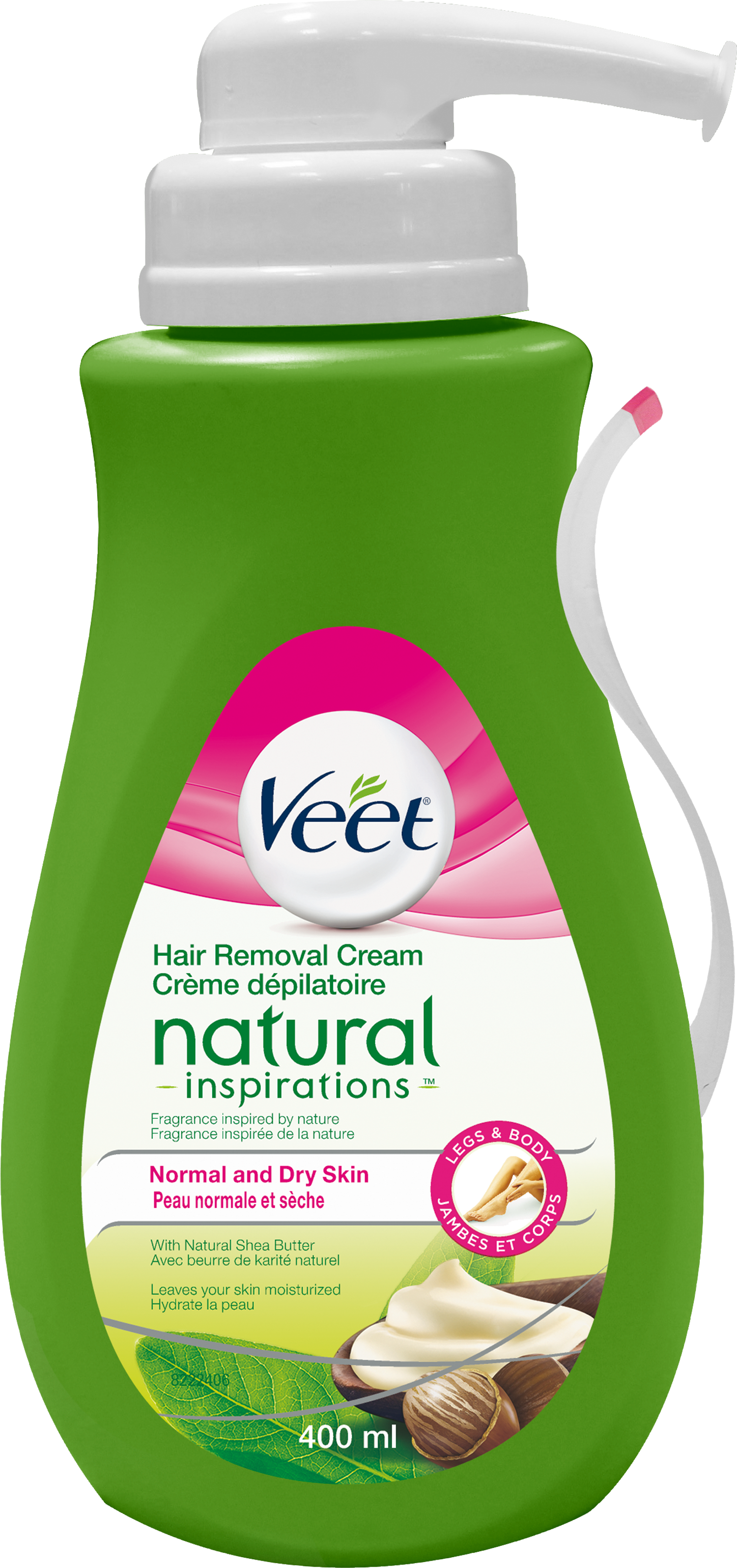 VEET Natural Inspirations Hair Removal Cream  Normal  Dry Skin pump Canada Photo