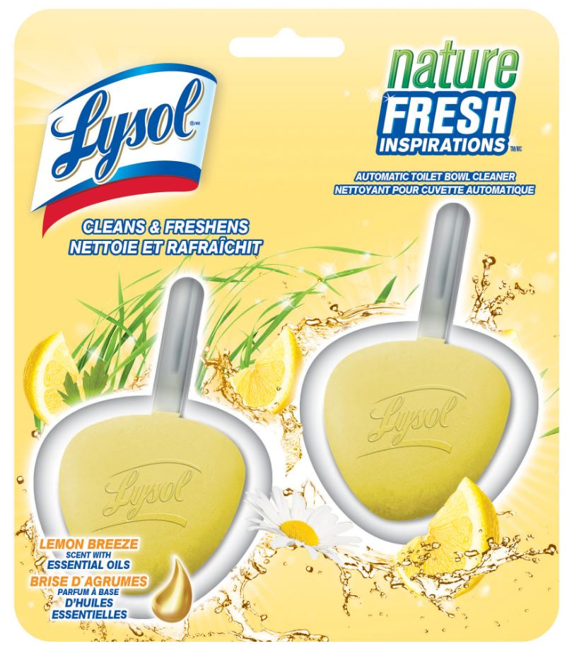 LYSOL® Nature Fresh Inspirations Automatic Toilet Bowl Cleaner - Lemon Breeze (Canada)