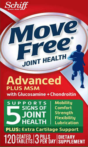 MOVE FREE® Advanced Plus MSM with Glucosamine + Chondroitin