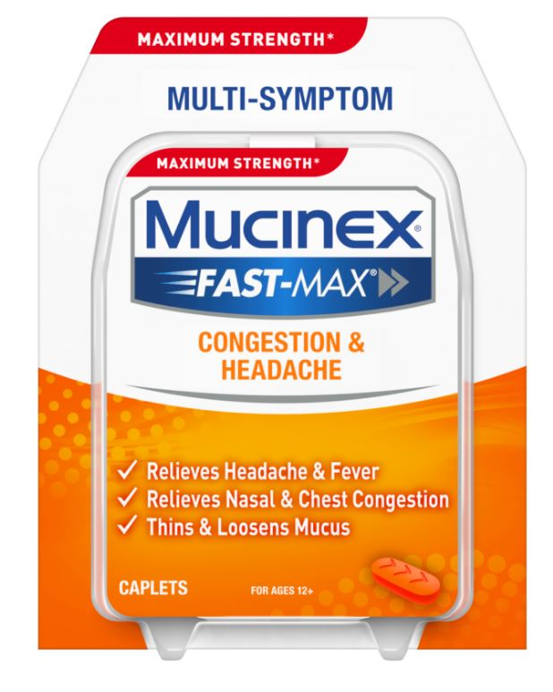 MUCINEX FASTMAX Congestion  Headache Caplets Photo