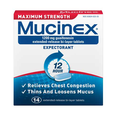 MUCINEX® 12 Hour SE - 1200 mg Guaifenesin
