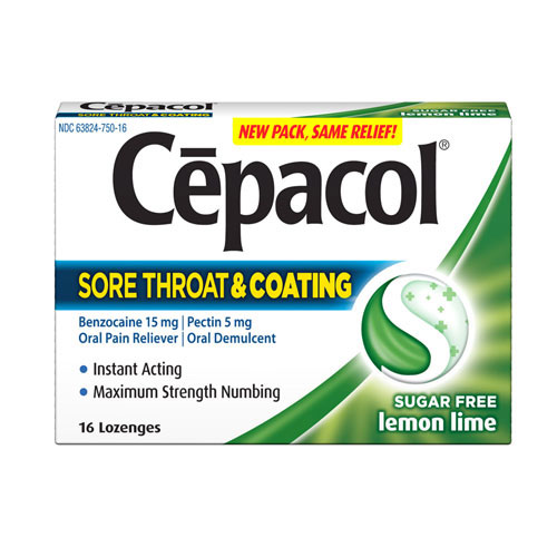 CEPACOL® Sore Throat and Coating Lozenges - Sugar Free Lemon Lime (Discontinued)
