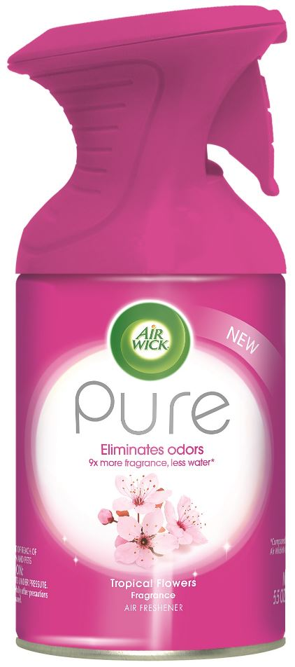 AIR WICK® Pure Air Freshener Aerosol - Tropical Flowers Fragrance