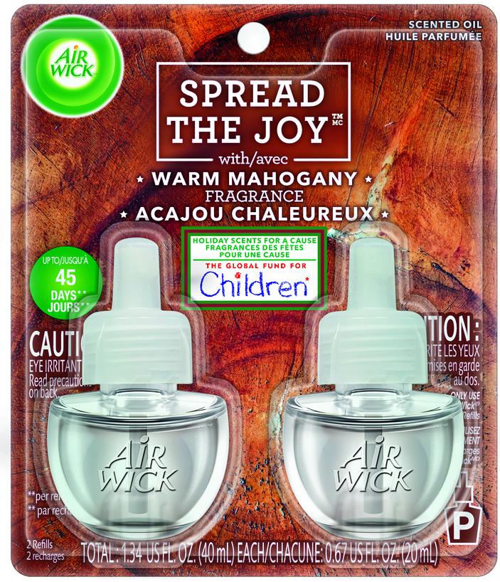 AIR WICK® Scented Oil Starter Kit - Warm Mahogany (Spread The Joy™)