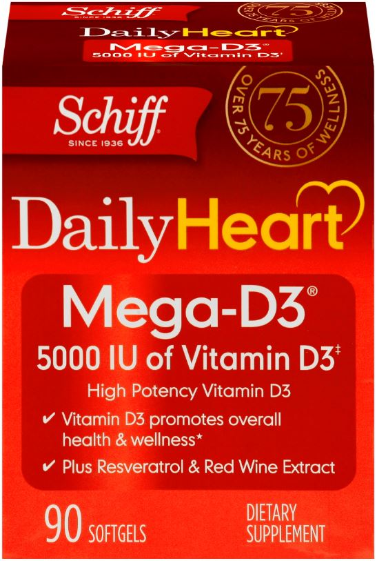 SCHIFF Daily Heart MegaD3 Softgels Photo