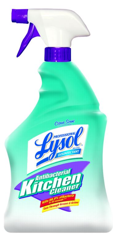 Professional LYSOL Disinfectant Antibacterial Kitchen Cleaner  Citrus Scent Photo