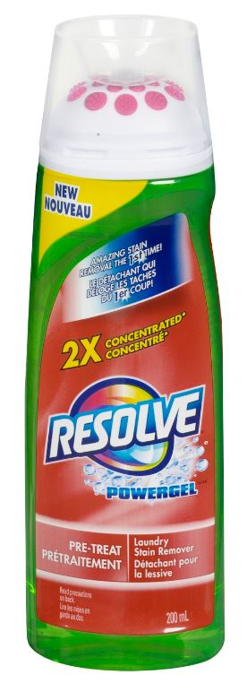 RESOLVE® Powergel™ Pre-Treat Laundry Stain Remover (Canada)