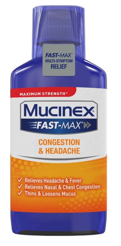 MUCINEX® FAST-MAX® Congestion & Headache Liquid