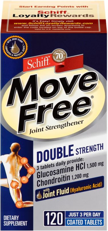MOVE FREE® Joint Strengthener Glucosamine HCl and Chondroitin Tablets