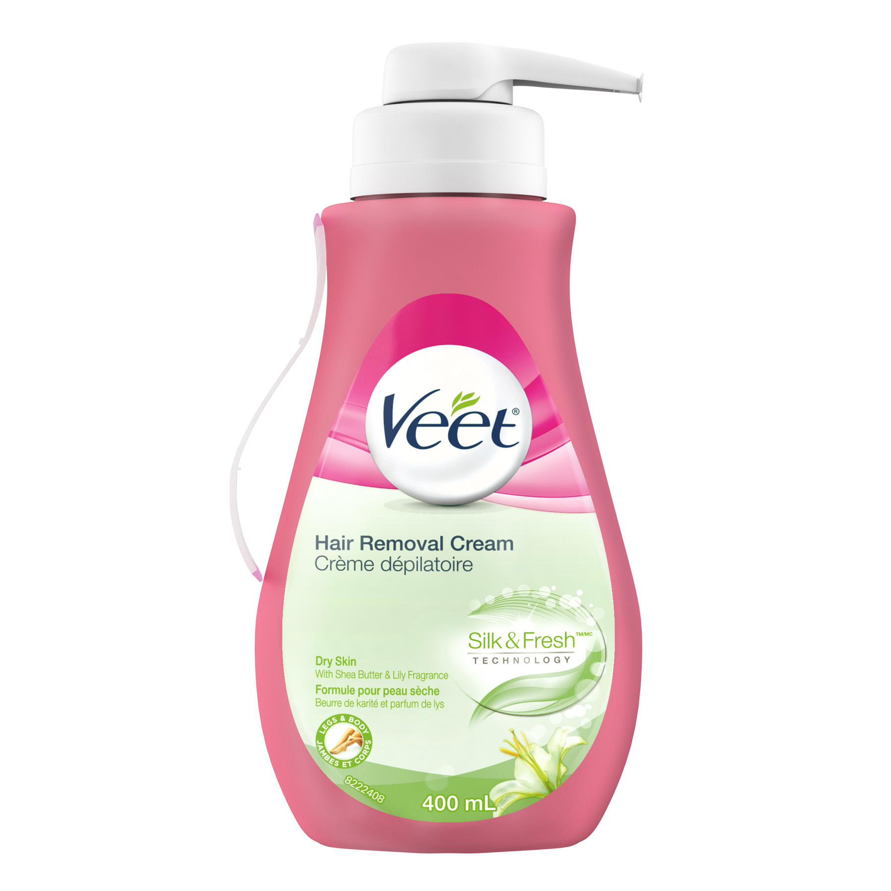 VEET® Hair Removal Gel Cream for Dry Skin - Shea Butter & Lily (Pump)