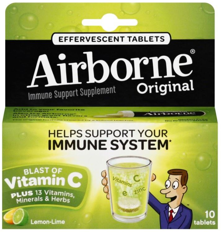 AIRBORNE Original Effervescent Tablets  Lemon Lime Photo