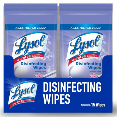 LYSOL® Disinfecting Wipes Packet - Lavender