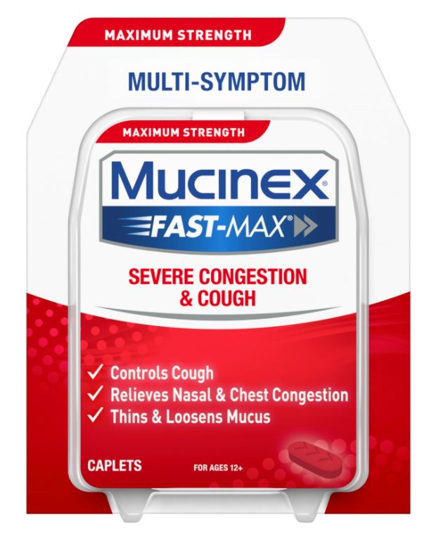 MUCINEX FASTMAX Severe Congestion  Cough Caplets Photo