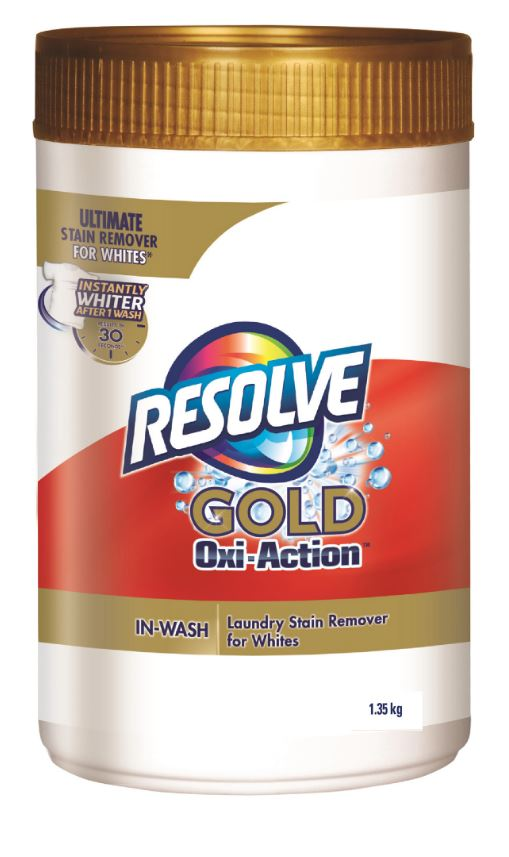 RESOLVE® Gold Oxi-Action™ In-Wash Laundry Stain Remover for Whites - Powder (Canada)