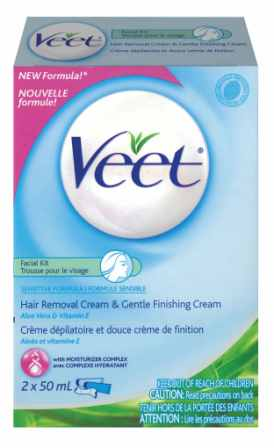 VEET® Facial Kit - Hair Removal Cream - Sensitive Formula (Product A)