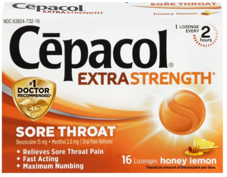 CEPACOL Extra Strength Sore Throat Lozenges  Honey Lemon  Photo