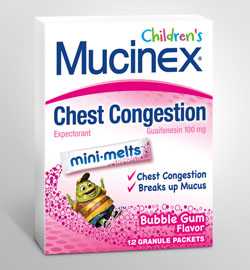 MUCINEX® CHILDREN'S MINI-MELTS™ - Bubblegum (100 mg Guaifenesin)